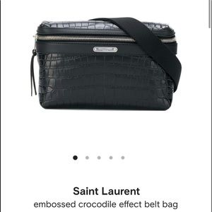 Saint laurent CITY BELT BAG IN CROCODILE EMBOSSED
